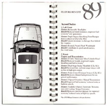 1989 Accord Product Guide inside page