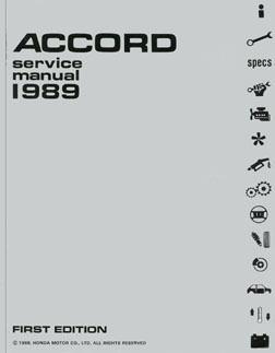 1989 Honda Accord Service Manual