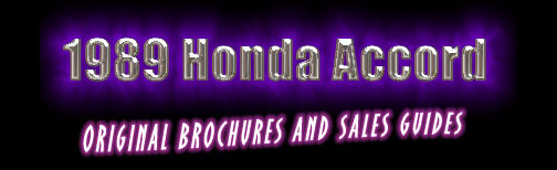 Honda Brochures and Sales Guides